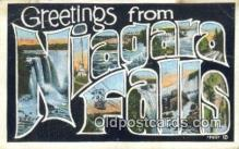 LLT200905 - Niagara Falls USA Large Letter Town Vintage Postcard Old Post Card Antique Postales, Cartes, Kartpostal