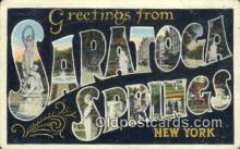 LLT200906 - Saratoga Springs, New York USA Large Letter Town Vintage Postcard Old Post Card Antique Postales, Cartes, Kartpostal