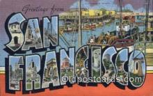 LLT200916 - San Francisco USA Large Letter Town Vintage Postcard Old Post Card Antique Postales, Cartes, Kartpostal