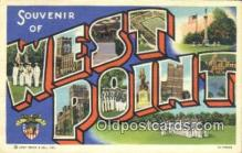 LLT200918 - West Point USA Large Letter Town Vintage Postcard Old Post Card Antique Postales, Cartes, Kartpostal