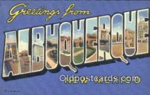 LLT200919 - Albuwuerque, New Mexico USA Large Letter Town Vintage Postcard Old Post Card Antique Postales, Cartes, Kartpostal