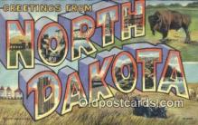 LLT200921 - North Dakota USA Large Letter Town Vintage Postcard Old Post Card Antique Postales, Cartes, Kartpostal