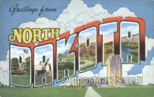 LLT200922 - North Dakota USA Large Letter Town Vintage Postcard Old Post Card Antique Postales, Cartes, Kartpostal