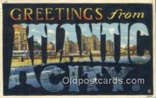 LLT200926 - Atlantic City USA Large Letter Town Vintage Postcard Old Post Card Antique Postales, Cartes, Kartpostal