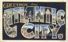 LLT200927 - Atlantic City USA Large Letter Town Vintage Postcard Old Post Card Antique Postales, Cartes, Kartpostal