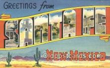 LLT200934 - Santa Fe, New Mexico USA Large Letter Town Vintage Postcard Old Post Card Antique Postales, Cartes, Kartpostal