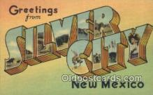 LLT200935 - Silver City, New Mexico USA Large Letter Town Vintage Postcard Old Post Card Antique Postales, Cartes, Kartpostal