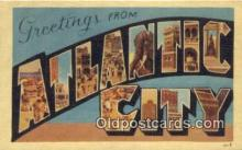 LLT200937 - Atlantic City USA Large Letter Town Vintage Postcard Old Post Card Antique Postales, Cartes, Kartpostal