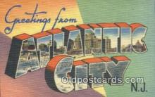 LLT200939 - Atlantic City USA Large Letter Town Vintage Postcard Old Post Card Antique Postales, Cartes, Kartpostal