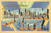 LLT200943 - Atlantic City USA Large Letter Town Vintage Postcard Old Post Card Antique Postales, Cartes, Kartpostal
