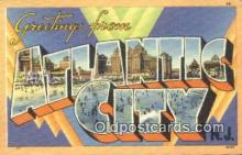 LLT200944 - Atlantic City USA Large Letter Town Vintage Postcard Old Post Card Antique Postales, Cartes, Kartpostal