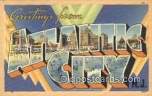 LLT200945 - Atlantic City USA Large Letter Town Vintage Postcard Old Post Card Antique Postales, Cartes, Kartpostal