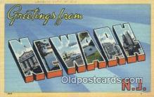 LLT200948 - Newark, NJ USA Large Letter Town Vintage Postcard Old Post Card Antique Postales, Cartes, Kartpostal