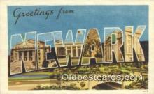 LLT200949 - Newark, New Jersey USA Large Letter Town Vintage Postcard Old Post Card Antique Postales, Cartes, Kartpostal