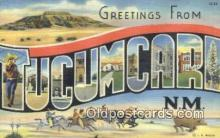 LLT200952 - Tucumcari, NM USA Large Letter Town Vintage Postcard Old Post Card Antique Postales, Cartes, Kartpostal