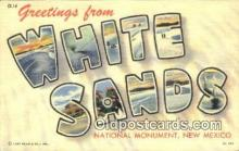 LLT200953 - White Sands National Monument, New Mexico USA Large Letter Town Vintage Postcard Old Post Card Antique Postales, Cartes, Kartpostal