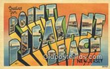 LLT200959 - Point Pleasant Beach, New Jersey USA Large Letter Town Vintage Postcard Old Post Card Antique Postales, Cartes, Kartpostal