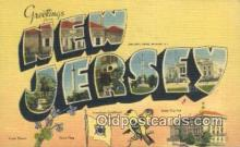 LLT200960 - New Jersey USA Large Letter Town Vintage Postcard Old Post Card Antique Postales, Cartes, Kartpostal