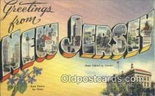 LLT200962 - New Jersey USA Large Letter Town Vintage Postcard Old Post Card Antique Postales, Cartes, Kartpostal
