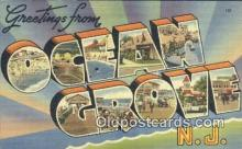 LLT200967 - Ocean Grove, NJ USA Large Letter Town Vintage Postcard Old Post Card Antique Postales, Cartes, Kartpostal