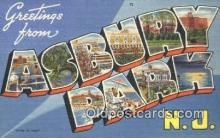 LLT200969 - Asbury Park, NJ USA Large Letter Town Vintage Postcard Old Post Card Antique Postales, Cartes, Kartpostal