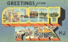 LLT200973 - Asbury Park, NJ USA Large Letter Town Vintage Postcard Old Post Card Antique Postales, Cartes, Kartpostal