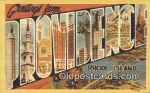 LLT200982 - Providence, Rhode Island USA Large Letter Town Vintage Postcard Old Post Card Antique Postales, Cartes, Kartpostal