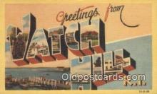 LLT200983 - Watch Hill, RI USA Large Letter Town Vintage Postcard Old Post Card Antique Postales, Cartes, Kartpostal