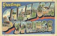 LLT200987 - Saratoga Springs, NY USA Large Letter Town Vintage Postcard Old Post Card Antique Postales, Cartes, Kartpostal