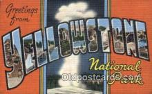LLT200992 - Yellowstone National Park USA Large Letter Town Vintage Postcard Old Post Card Antique Postales, Cartes, Kartpostal