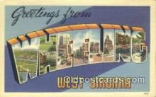 LLT200993 - Wheeling, West Virginia USA Large Letter Town Vintage Postcard Old Post Card Antique Postales, Cartes, Kartpostal