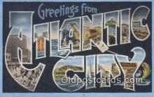 LLT201011 - Atlantic City USA Large Letter Town Vintage Postcard Old Post Card Antique Postales, Cartes, Kartpostal