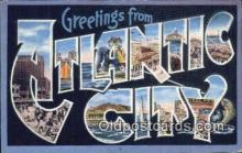 LLT201012 - Atlantic City USA Large Letter Town Vintage Postcard Old Post Card Antique Postales, Cartes, Kartpostal