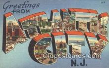 LLT201013 - Atlantic City USA Large Letter Town Vintage Postcard Old Post Card Antique Postales, Cartes, Kartpostal