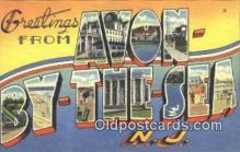 LLT201014 - Avon by the Sea, NJ USA Large Letter Town Vintage Postcard Old Post Card Antique Postales, Cartes, Kartpostal