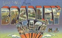LLT201021 - Bradley Beach, NJ USA Large Letter Town Vintage Postcard Old Post Card Antique Postales, Cartes, Kartpostal