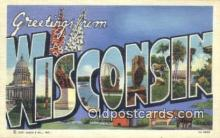 LLT201037 - Wisconsin USA Large Letter Town Vintage Postcard Old Post Card Antique Postales, Cartes, Kartpostal