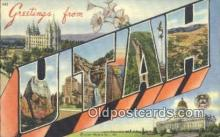 LLT201041 - Utah USA Large Letter Town Vintage Postcard Old Post Card Antique Postales, Cartes, Kartpostal