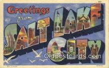 LLT201044 - Salt Lake City USA Large Letter Town Vintage Postcard Old Post Card Antique Postales, Cartes, Kartpostal