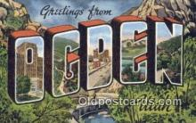 LLT201048 - Ogden, Utah USA Large Letter Town Vintage Postcard Old Post Card Antique Postales, Cartes, Kartpostal