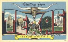 LLT201054 - Texas USA Large Letter Town Vintage Postcard Old Post Card Antique Postales, Cartes, Kartpostal