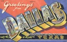 LLT201057 - Dallas, Texas USA Large Letter Town Vintage Postcard Old Post Card Antique Postales, Cartes, Kartpostal