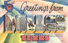 LLT201060 - Dallas, Texas USA Large Letter Town Vintage Postcard Old Post Card Antique Postales, Cartes, Kartpostal