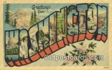 LLT201069 - Washington USA Large Letter Town Vintage Postcard Old Post Card Antique Postales, Cartes, Kartpostal