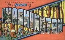 LLT201073 - Washington USA Large Letter Town Vintage Postcard Old Post Card Antique Postales, Cartes, Kartpostal