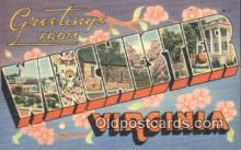 LLT201075 - Winchester, Virginia USA Large Letter Town Vintage Postcard Old Post Card Antique Postales, Cartes, Kartpostal