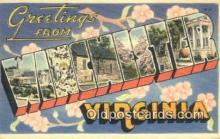 LLT201076 - Winchester, Virginia USA Large Letter Town Vintage Postcard Old Post Card Antique Postales, Cartes, Kartpostal