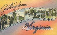 LLT201077 - Waynesboro, Virignia USA Large Letter Town Vintage Postcard Old Post Card Antique Postales, Cartes, Kartpostal