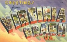 LLT201078 - Virginia Beach, VA USA Large Letter Town Vintage Postcard Old Post Card Antique Postales, Cartes, Kartpostal