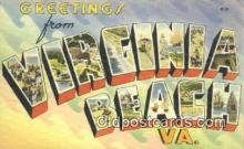LLT201079 - Virginia Beach, VA USA Large Letter Town Vintage Postcard Old Post Card Antique Postales, Cartes, Kartpostal